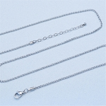 24 Inch Plus 2 Inch Extender Stainless Steel 2.3mm Rolo Chain for Floating Locket